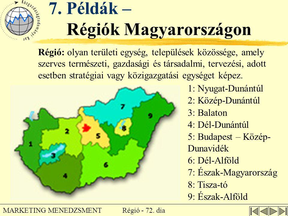 7. Példák – Régiók Magyarországon