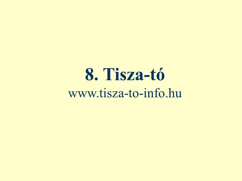 8. Tisza-tó www.tisza-to-info.hu