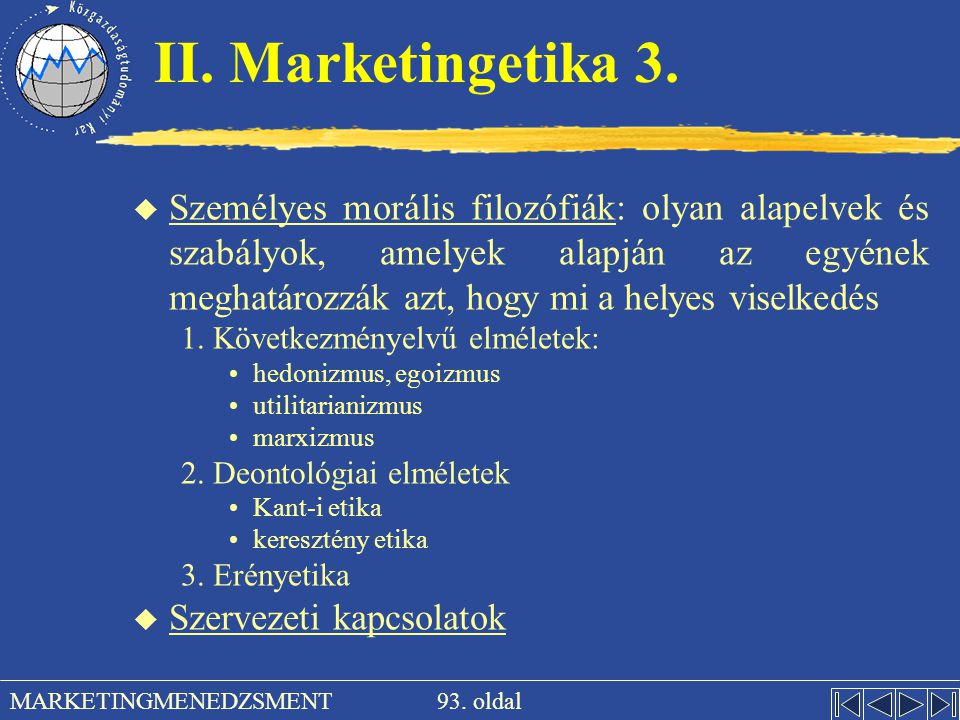 II. Marketingetika 3.