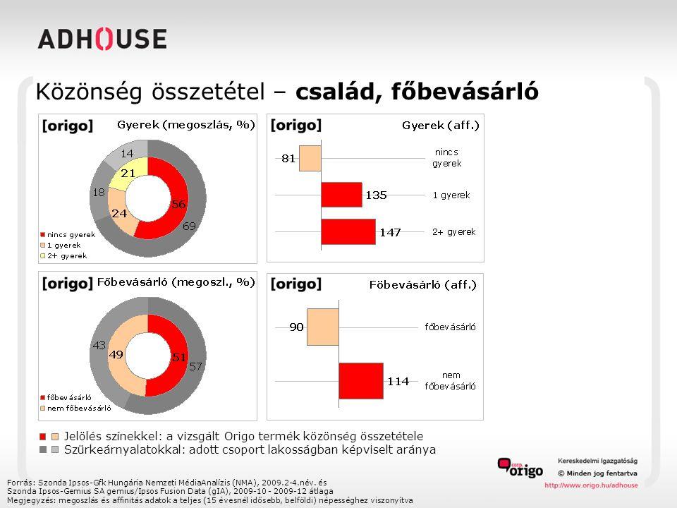 Közönség összetétel – gazdasági aktivitás