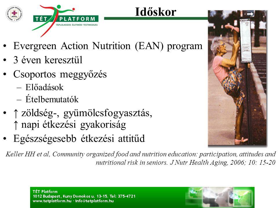 Időskor Evergreen Action Nutrition (EAN) program 3 éven keresztül