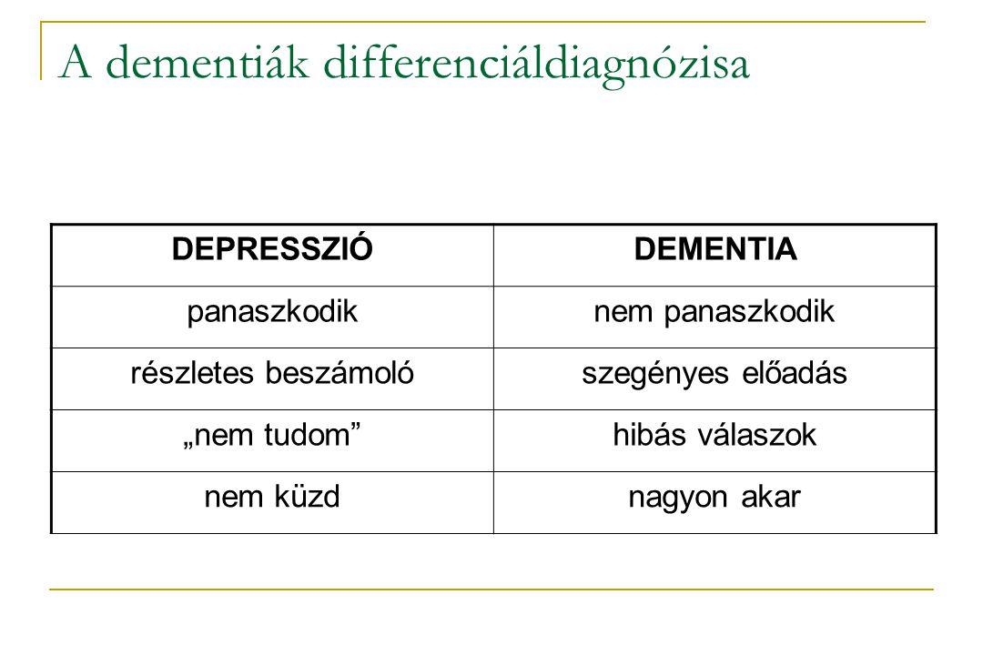 A dementiák differenciáldiagnózisa