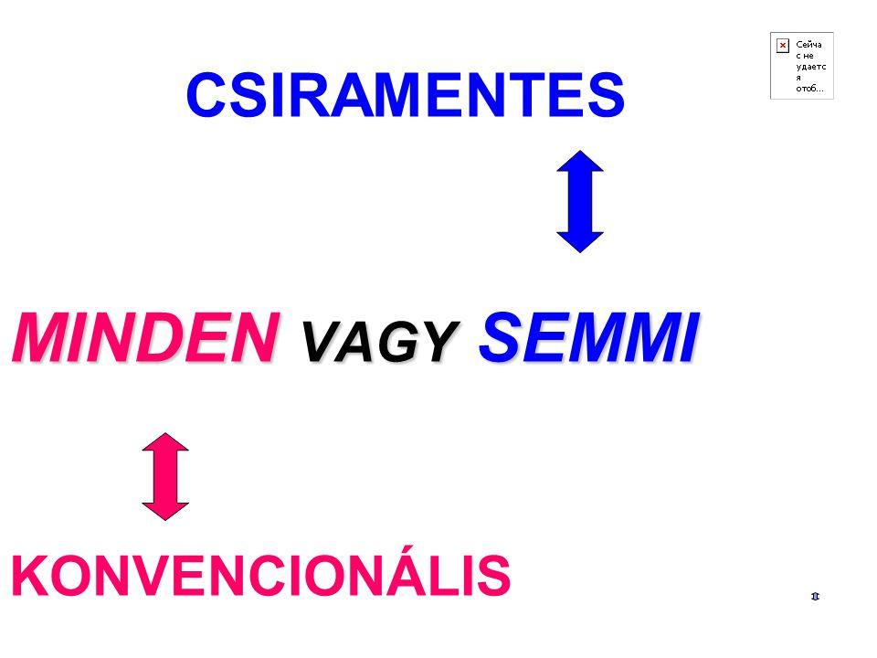 CSIRAMENTES MINDEN VAGY SEMMI KONVENCIONÁLIS