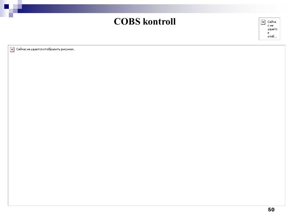 COBS kontroll