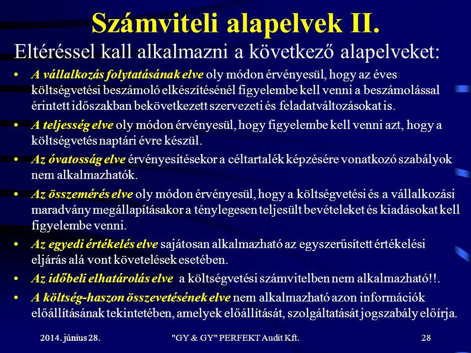 Számviteli alapelvek II.