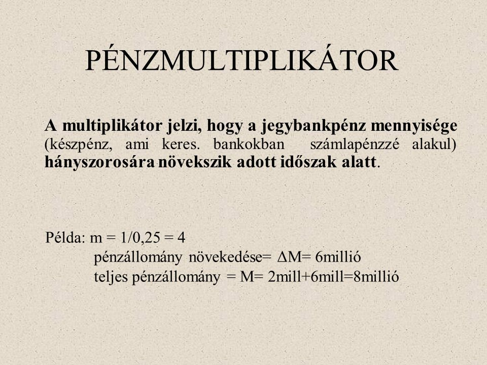 PÉNZMULTIPLIKÁTOR