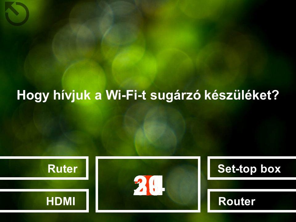 Hogy hívjuk a Wi-Fi-t sugárzó készüléket