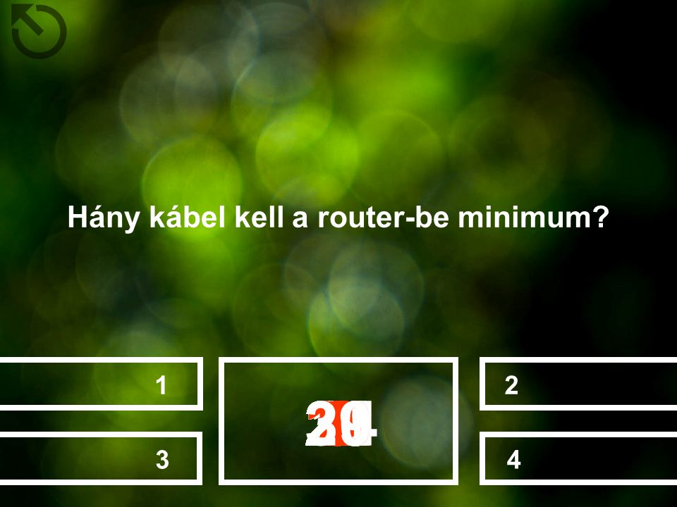 Hány kábel kell a router-be minimum
