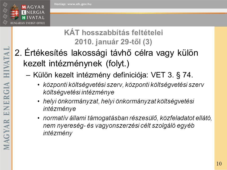 KÁT hosszabbítás feltételei 2010. január 29-től (3)