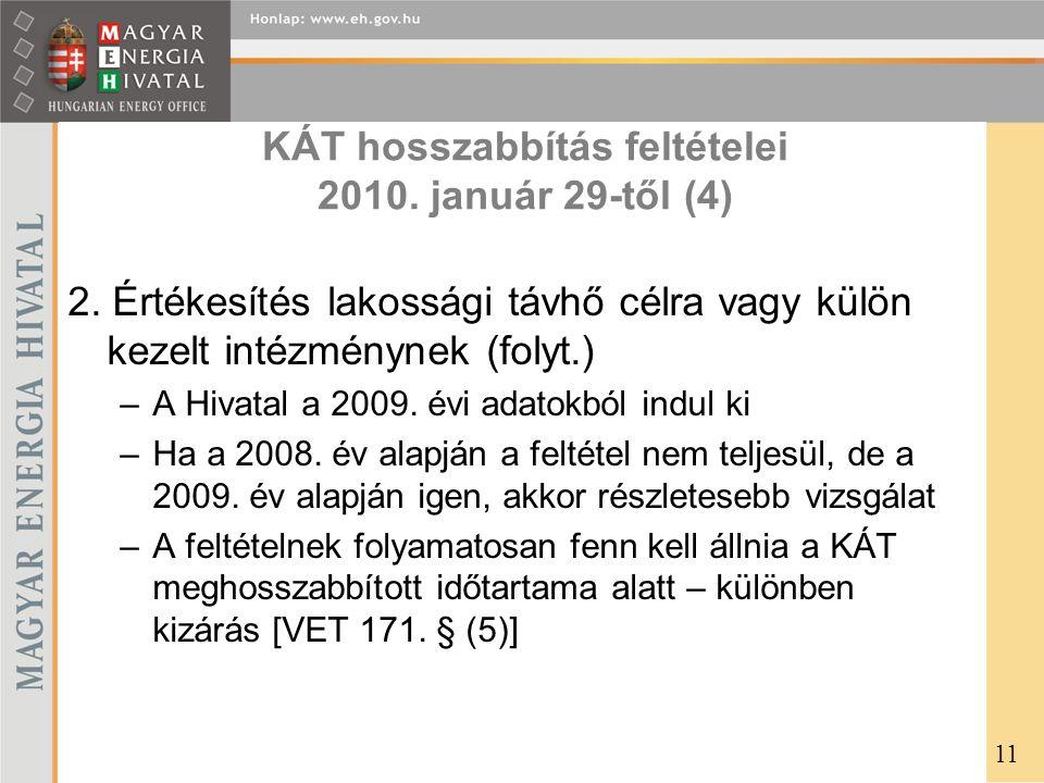 KÁT hosszabbítás feltételei 2010. január 29-től (4)
