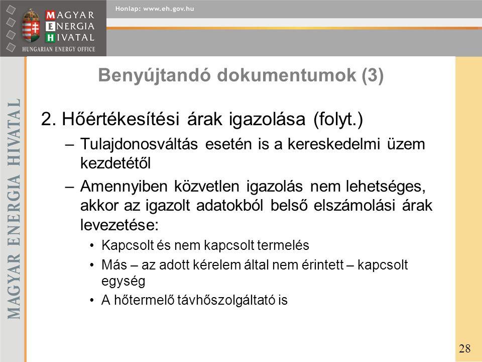 Benyújtandó dokumentumok (3)
