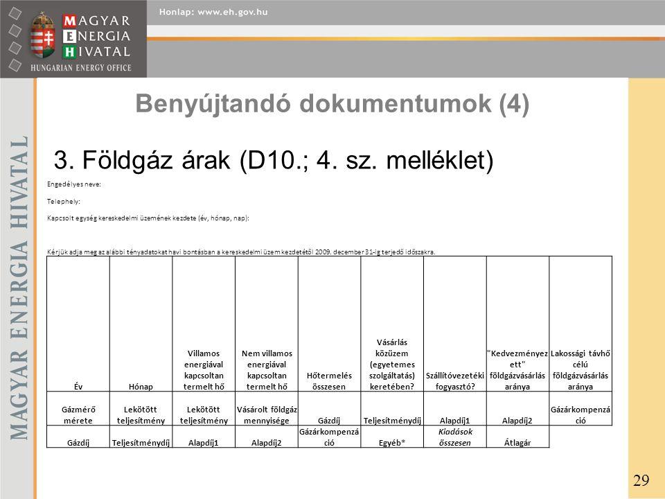 Benyújtandó dokumentumok (4)