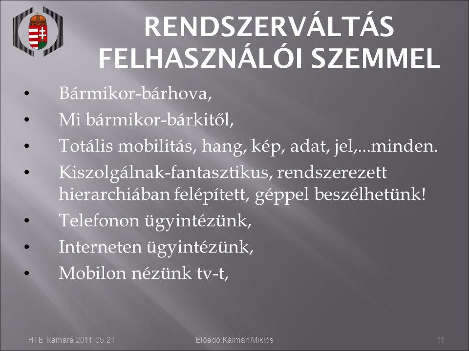 RENDSZERVÁLTÁS FELHASZNÁLÓI SZEMMEL