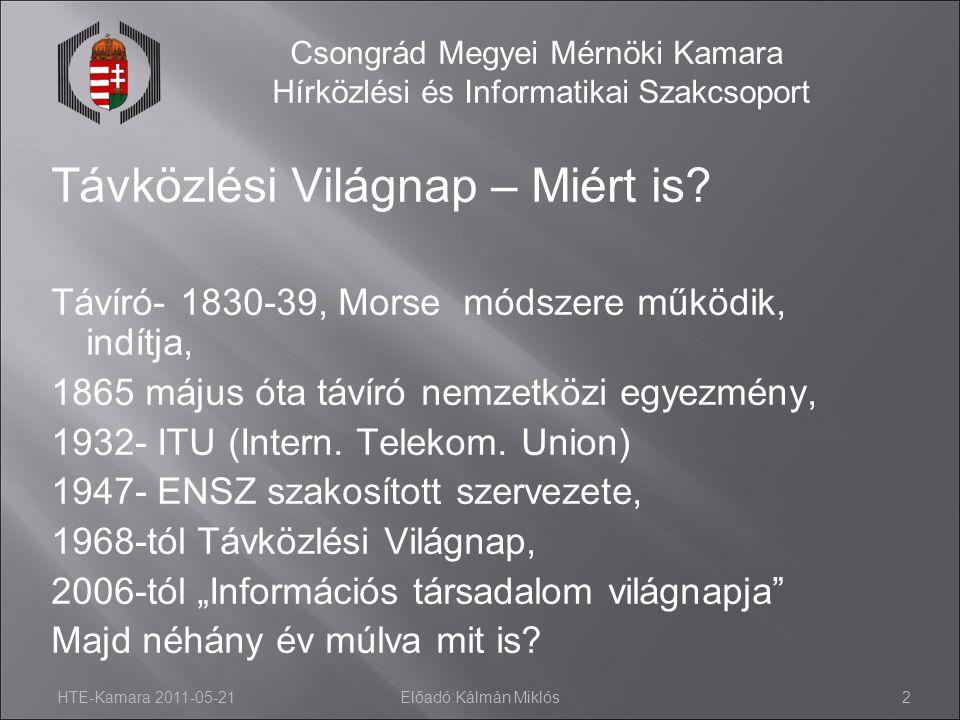 Csongrád Megyei Mérnöki Kamara Hírközlési és Informatikai Szakcsoport