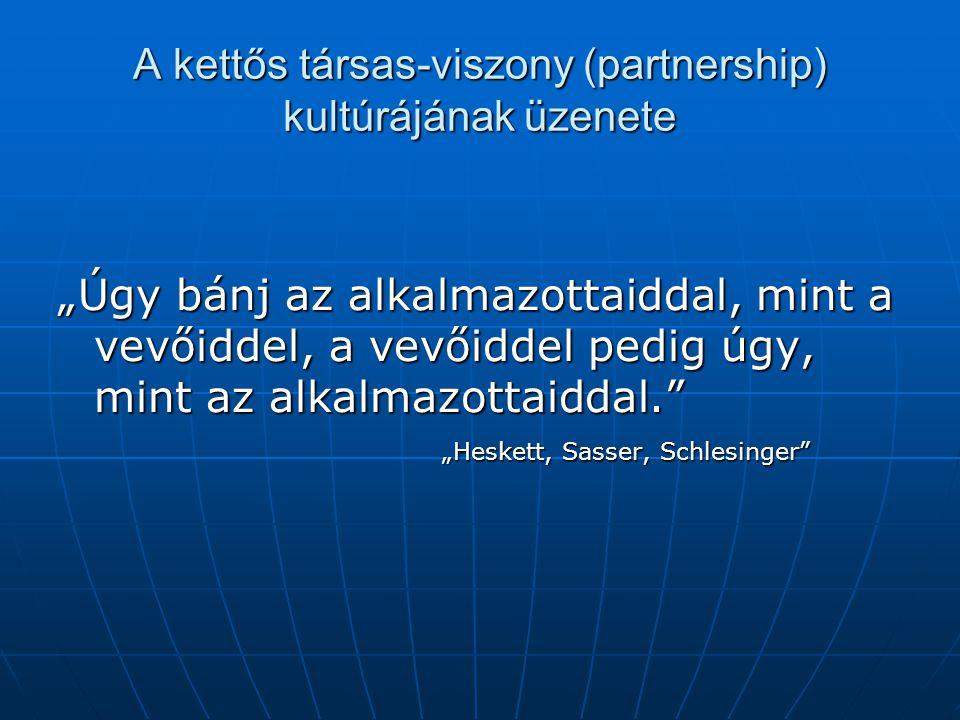 A kettős társas-viszony (partnership) kultúrájának üzenete