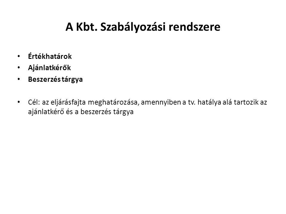 A Kbt. Szabályozási rendszere