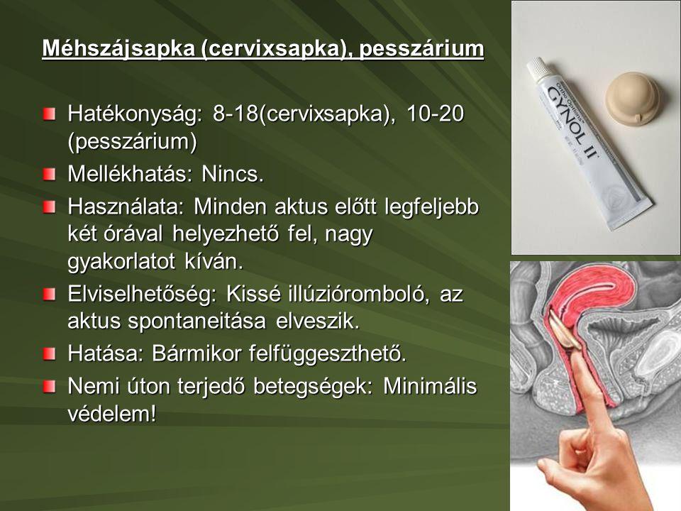 Méhszájsapka (cervixsapka), pesszárium