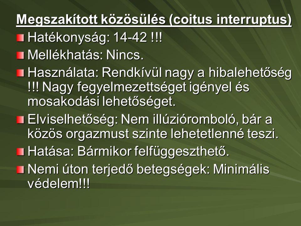 Megszakított közösülés (coitus interruptus)