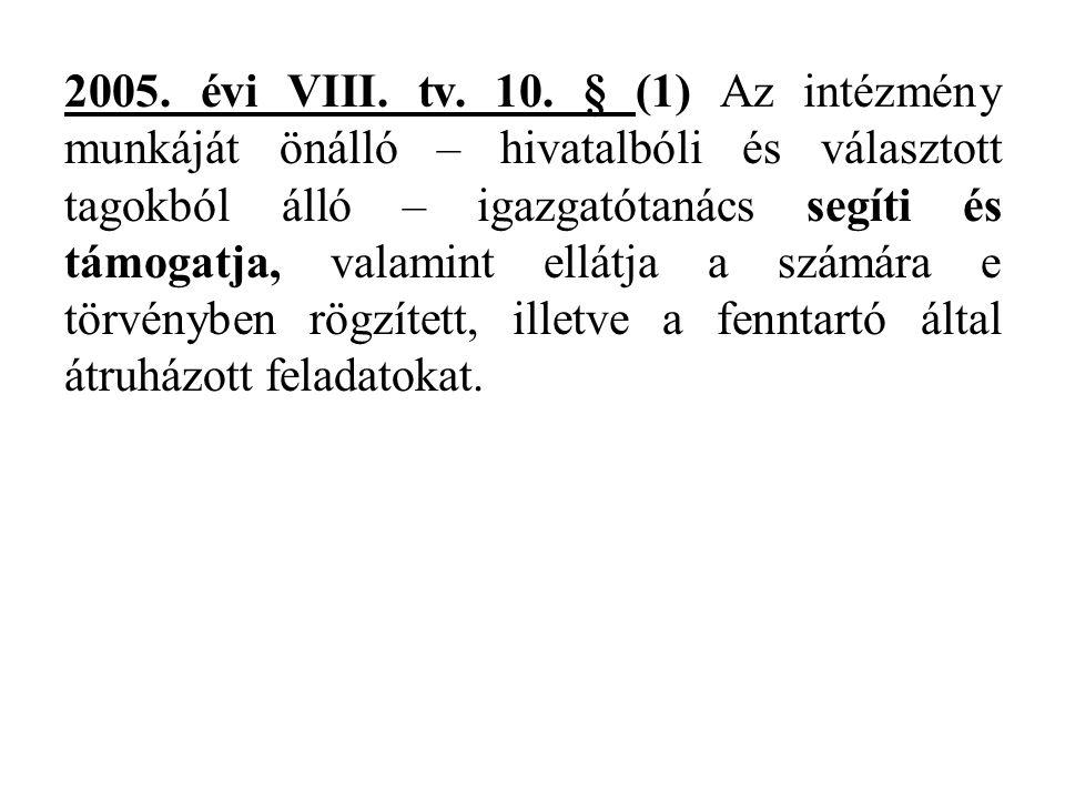 2005. évi VIII. tv. 10.