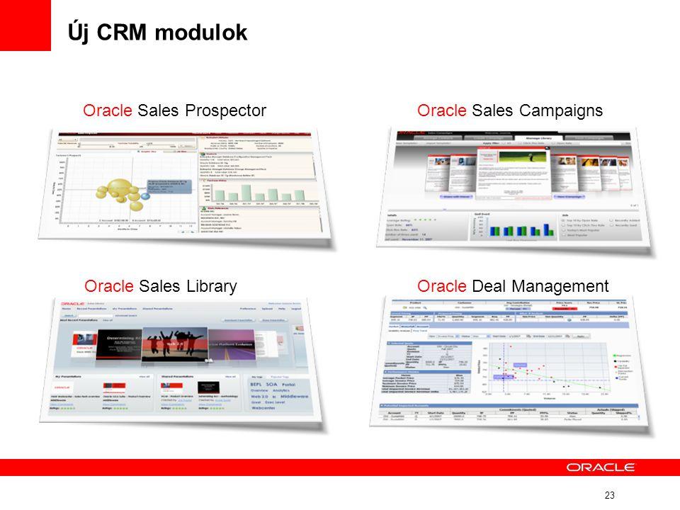 Új CRM modulok Oracle Sales Prospector Oracle Sales Campaigns