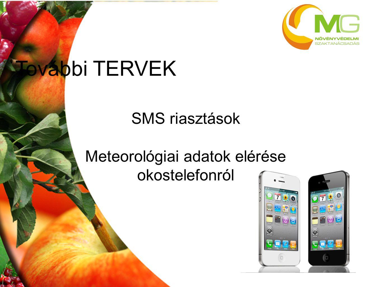 Meteorológiai adatok elérése okostelefonról