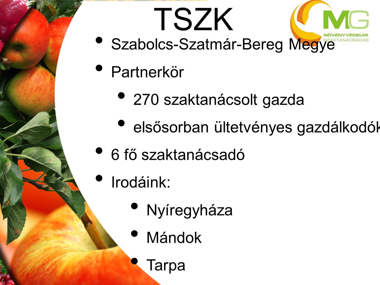 TSZK Szabolcs-Szatmár-Bereg Megye Partnerkör 270 szaktanácsolt gazda