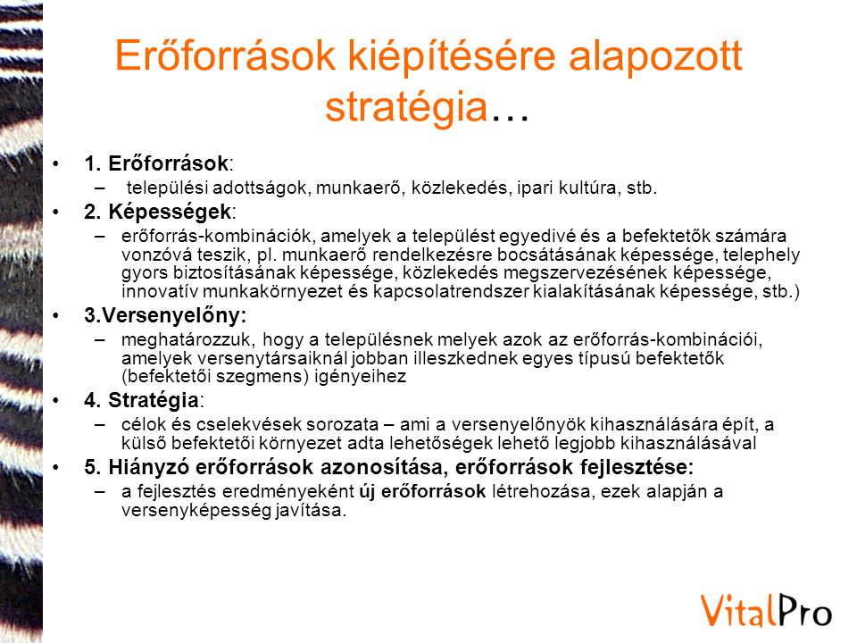 Erőforrások kiépítésére alapozott stratégia…