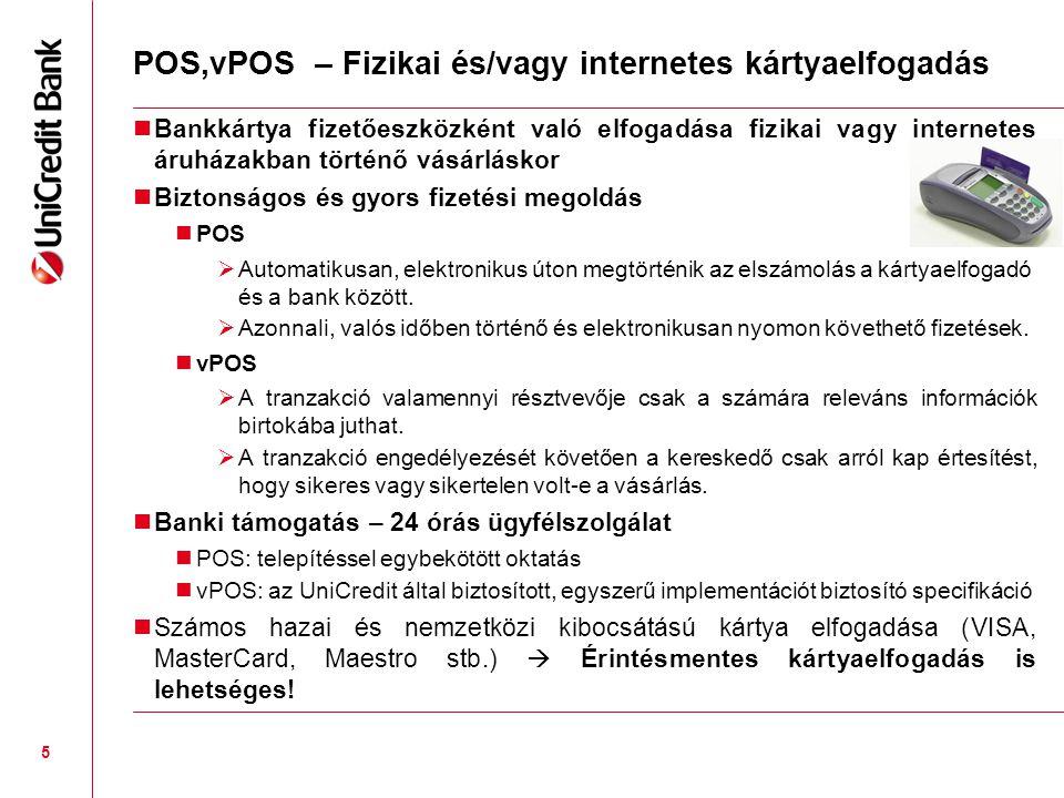 POS,vPOS – Fizikai és/vagy internetes kártyaelfogadás