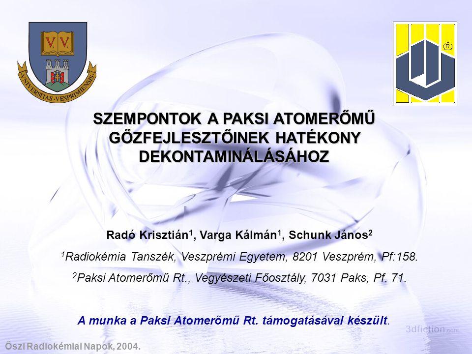 Radó Krisztián1, Varga Kálmán1, Schunk János2