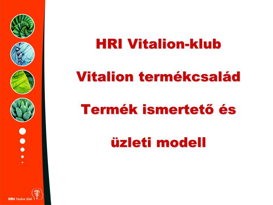 HRI Vitalion-klub Vitalion termékcsalád Termék ismertető és üzleti modell
