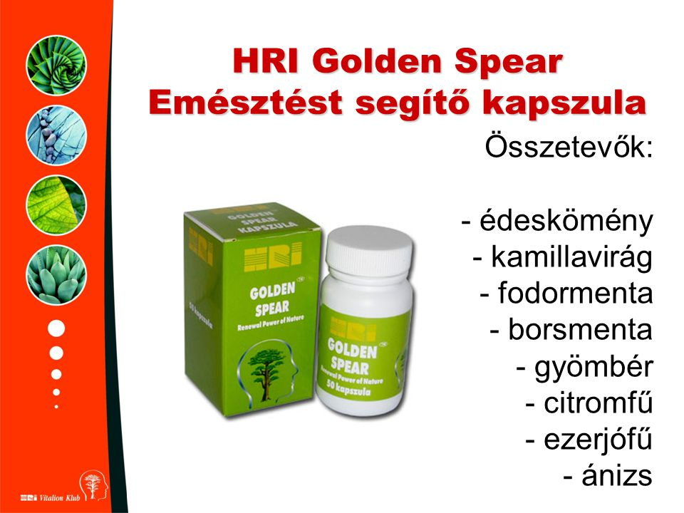 HRI Golden Spear Emésztést segítő kapszula
