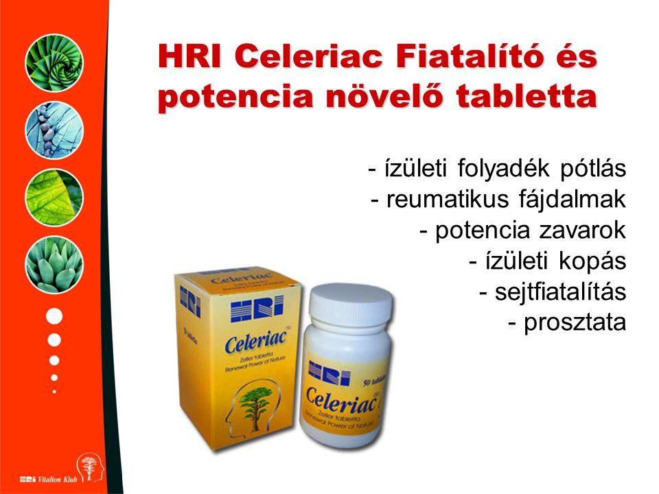 HRI Celeriac Fiatalító és potencia növelő tabletta