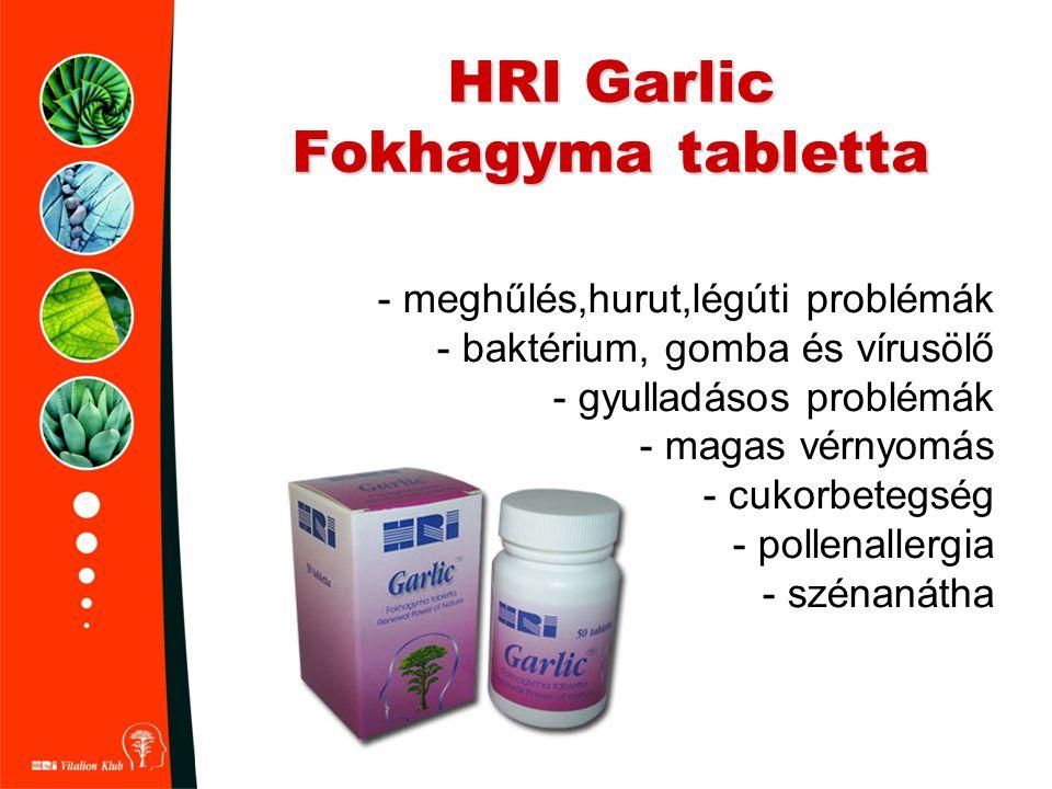 HRI Garlic Fokhagyma tabletta