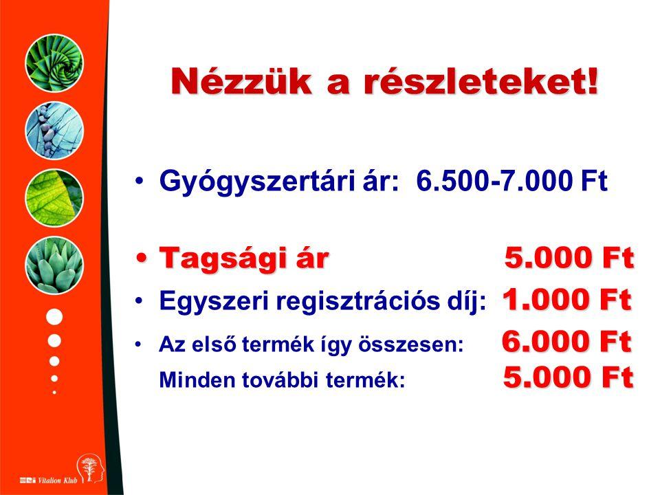 Nézzük a részleteket! Gyógyszertári ár: 6.500-7.000 Ft