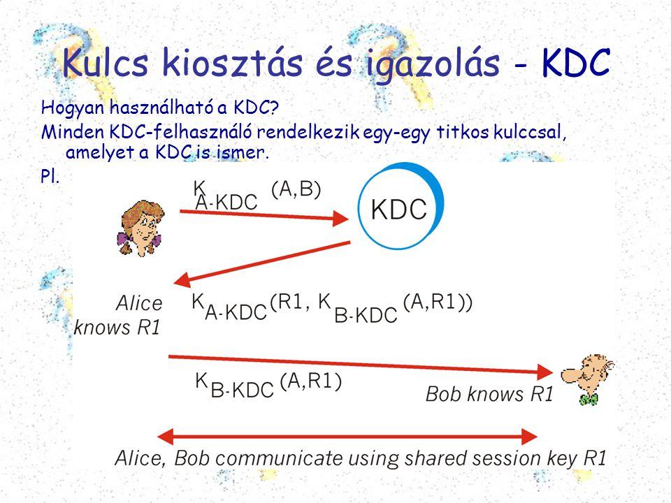 Kulcs kiosztás és igazolás - KDC