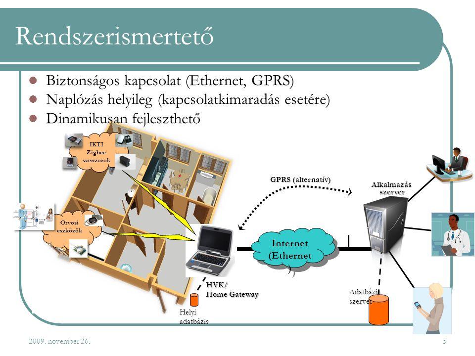 Rendszerismertető Biztonságos kapcsolat (Ethernet, GPRS)