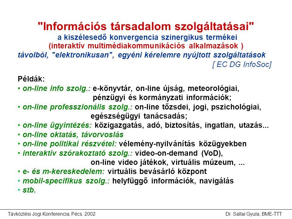 Információs társadalom szolgáltatásai a kiszélesedő konvergencia szinergikus termékei (interaktív multimédiakommunikációs alkalmazások )