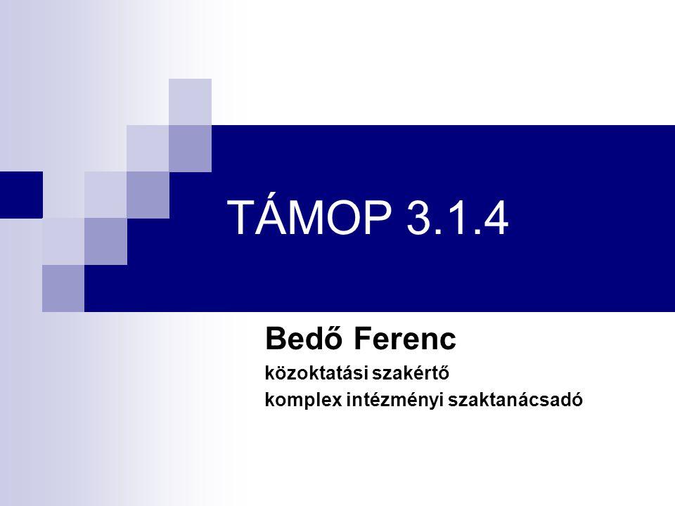 Bedő Ferenc közoktatási szakértő komplex intézményi szaktanácsadó