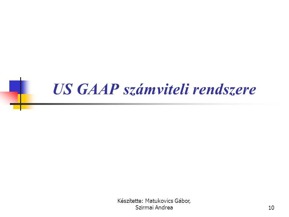 US GAAP számviteli rendszere