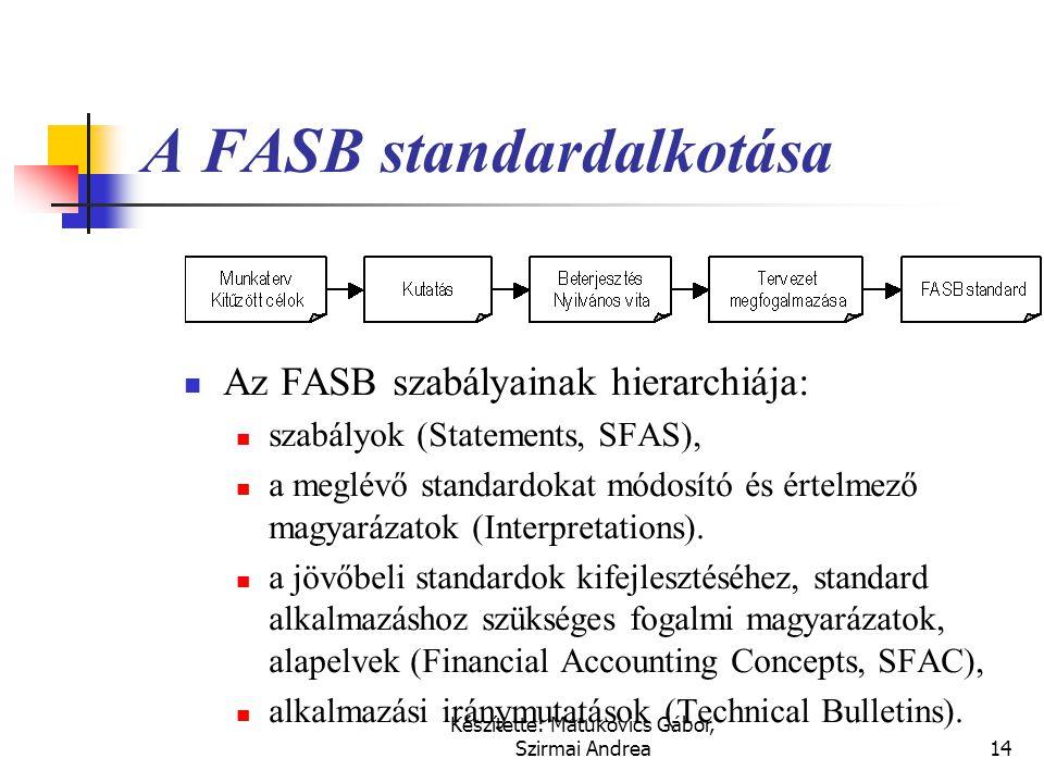 A FASB standardalkotása