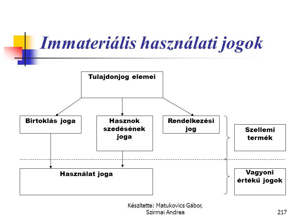 Immateriális használati jogok