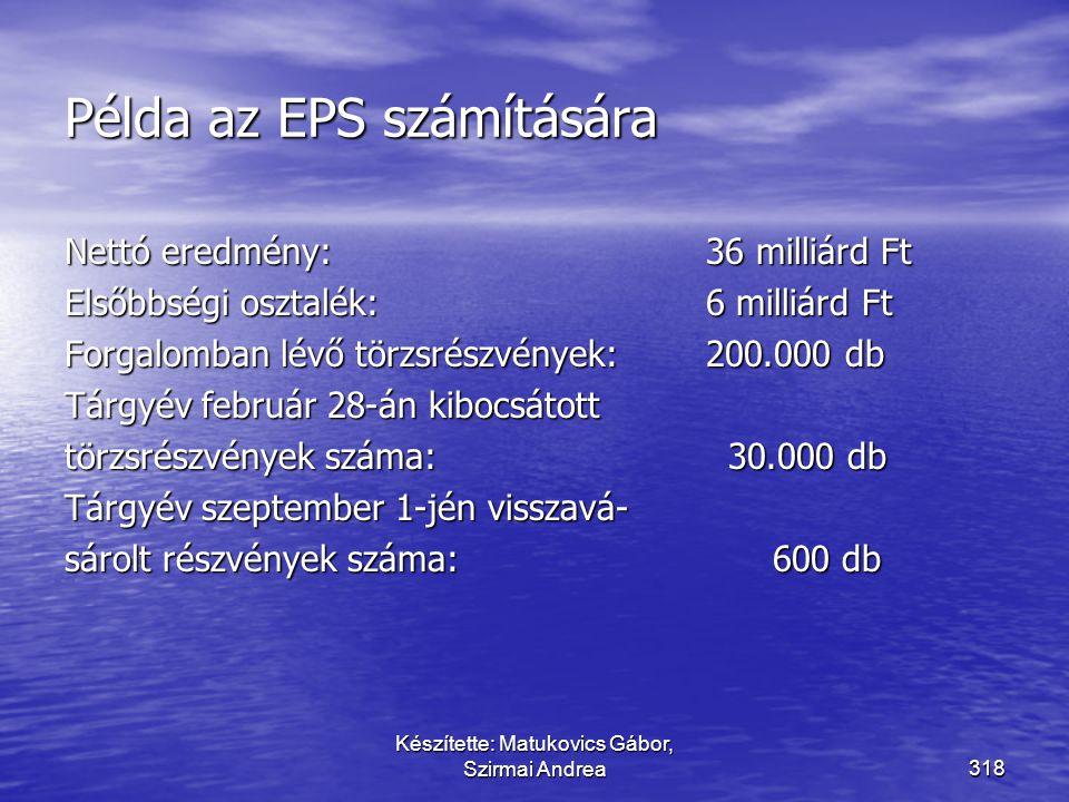 Példa az EPS számítására