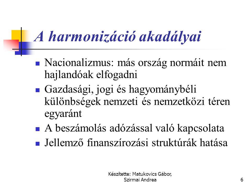 A harmonizáció akadályai
