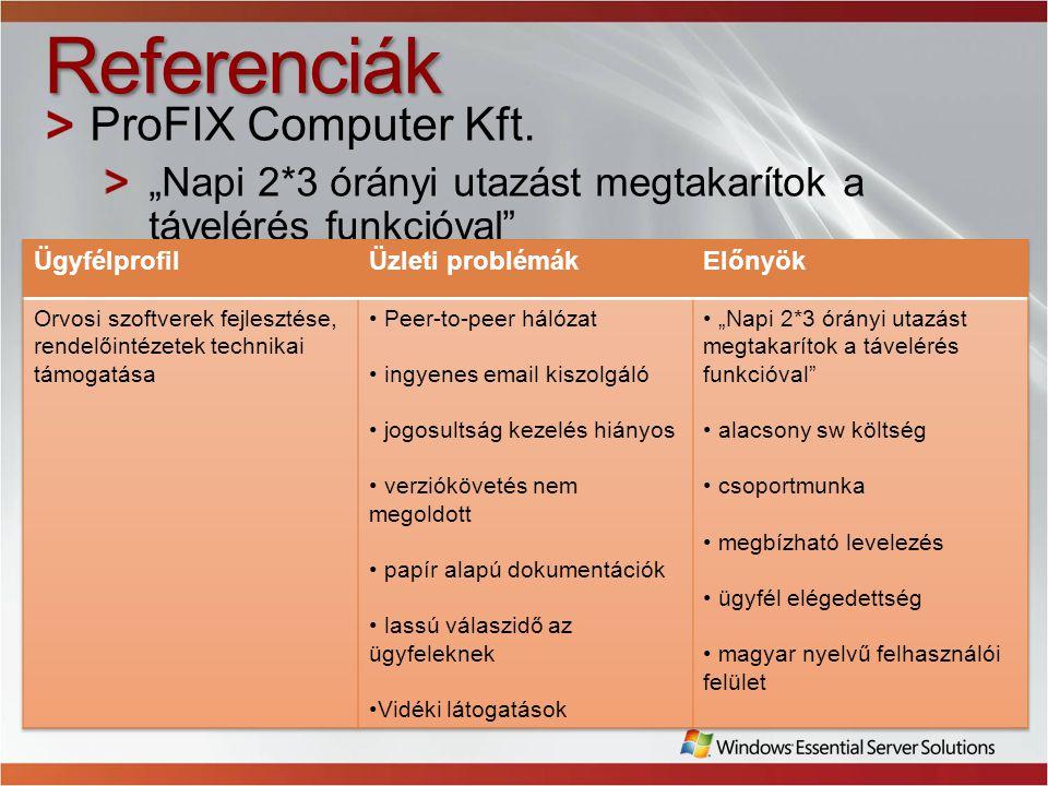 Referenciák ProFIX Computer Kft.