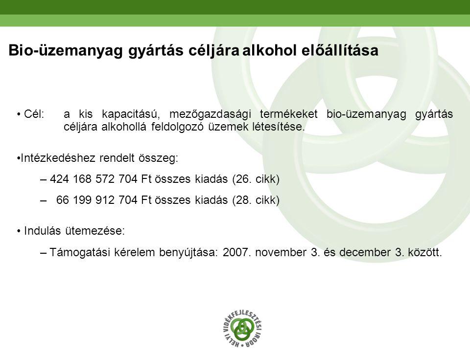 Bio-üzemanyag gyártás céljára alkohol előállítása