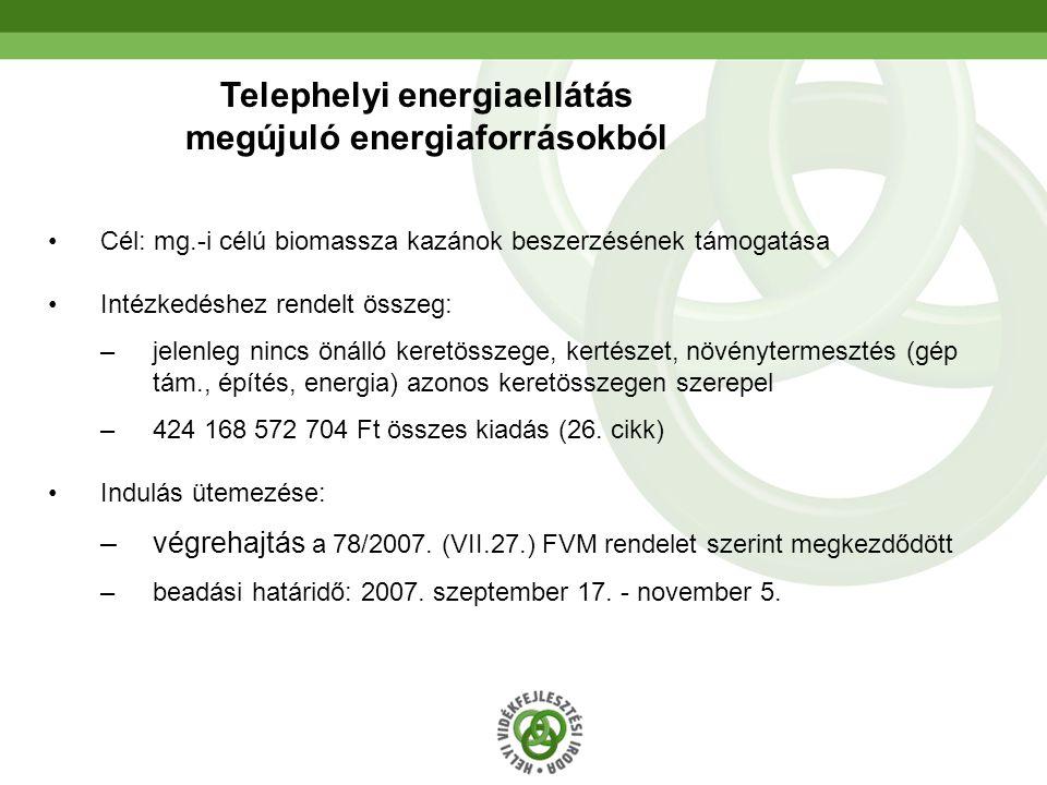 Telephelyi energiaellátás megújuló energiaforrásokból