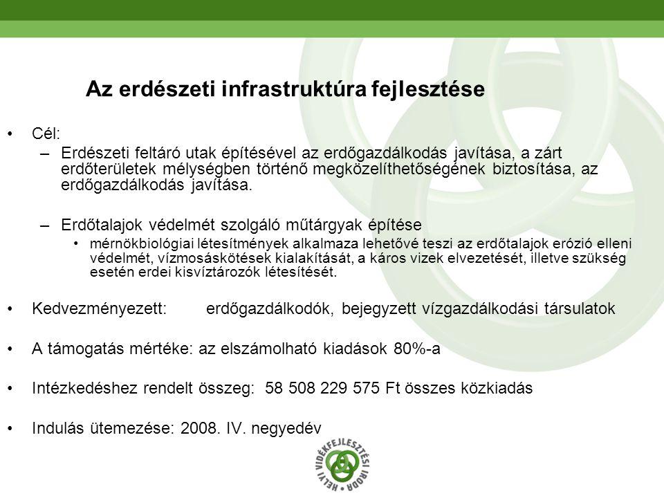 Az erdészeti infrastruktúra fejlesztése