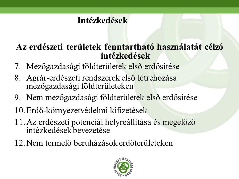 Az erdészeti területek fenntartható használatát célzó intézkedések
