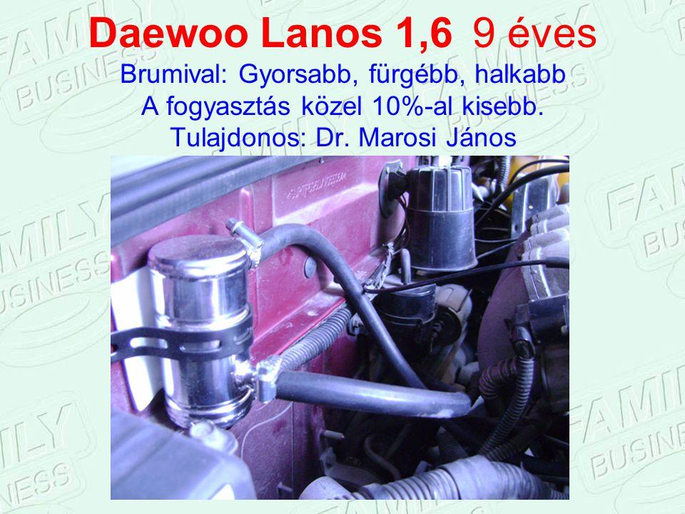 Daewoo Lanos 1,6 9 éves Brumival: Gyorsabb, fürgébb, halkabb A fogyasztás közel 10%-al kisebb.