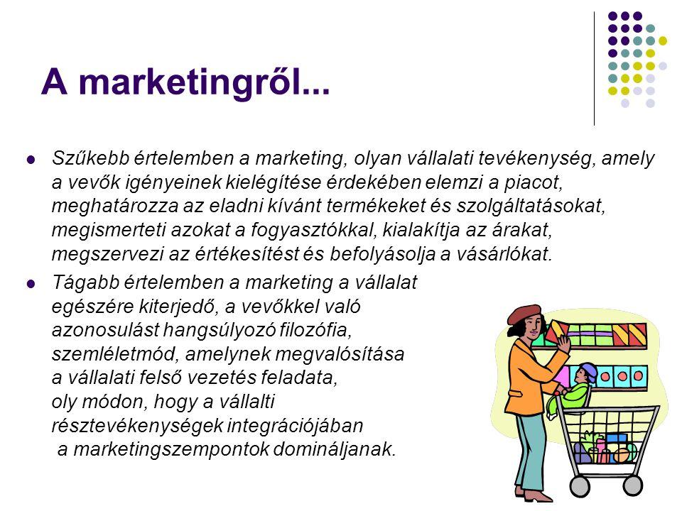 A marketingről...